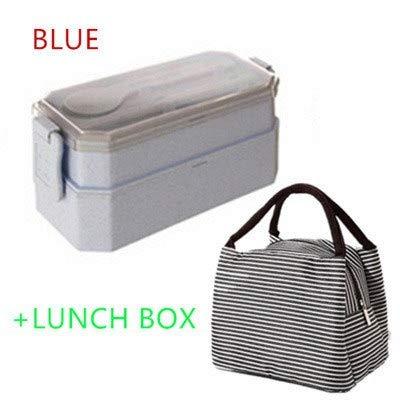 NYNLAGG Lunchboxen Behälter für Lebensmittel Mikrowelle Küchenzubehör für Picknick-Lebensmittelbehälter Tragbare Aufbewahrungsbox für Lebensmittel 1-2L BLAU1 (Lebensmittel Mikrowellen-behälter)