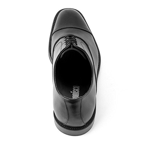 Masaltos Scarpe con Rialzo da Uomo Che Aumentano l'Altezza Fino a 7 cm. Fabbricate in Pelle. Modello Derbi Nero Mejor Lugar Para Comprar Venta Visita Comprar Barato La Mejor Venta Precio Barato Clásica JsJDVRpM