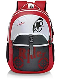 dcbaf7fed5 Skybag Unisex Grey  amp  Purple Flux Casual Laptop Backpack(Red ...
