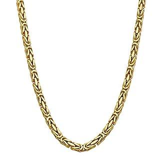 Diamond2deal Herren-Halskette 14 Karat massives Gelbgold 6,50 mm Königskette 61 cm