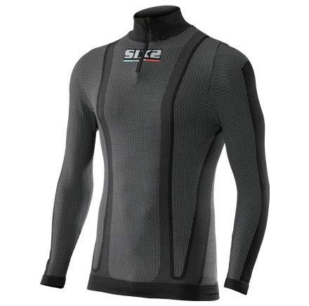 Polypropylen-zip-kragen-shirt (SIXS Trikot Ts13, schwarz, XS TS13-CB-XS)