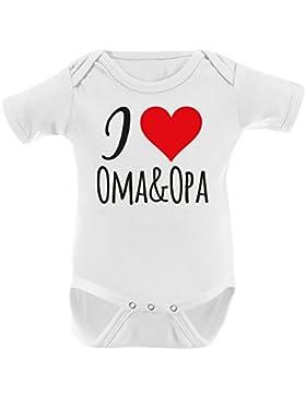 Mikalino Babybody I Love Oma & Opa Kurzarm