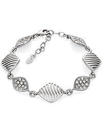LillyMarie Damen Silberarmband Silber 925 Original Swarovski Elements Raute  Längen-verstellbar Hochwertige Geschenkbox… 8adfe31ade