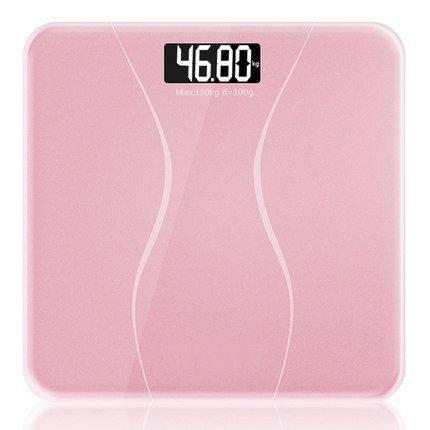 Jthkx migliore vendita180kg piazza night vision bagno scala del peso della famiglia nero bianco rosa smart lcd digital bilance da pavimento, rosa