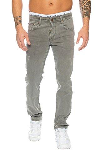 Rock Creek Herren Jeans Grau RC-2097 [W38 L36] (Langer Rock Jeans)