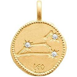 ISADY - Constellation Gold Lion - Pendentif - Plaqué Or 750/000 (18 carats) - Chaîne incluse - Longueur 38 cm