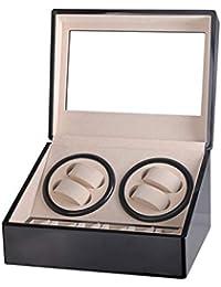 Elviray Support de Grande Classe Moteur Montre Shaker Montre Enrouleur Affichage 4 + 6 Automatique boîte de remontage de Montre mécanique boîte à Bijoux
