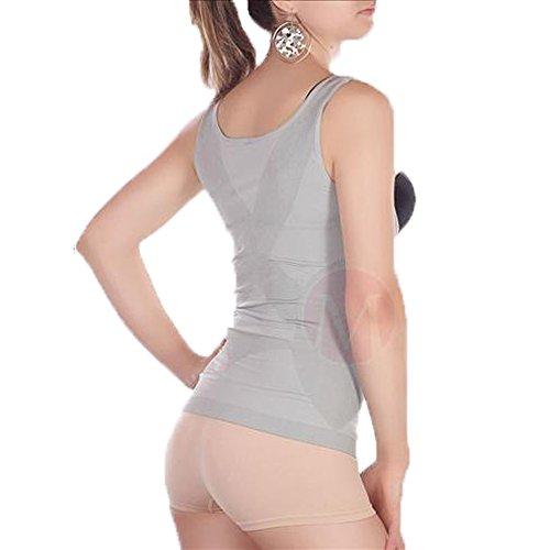 Libella Damen Mieder-Top Größe XL/XXL mit Bauch-weg-Effekt MDU3607 Grau