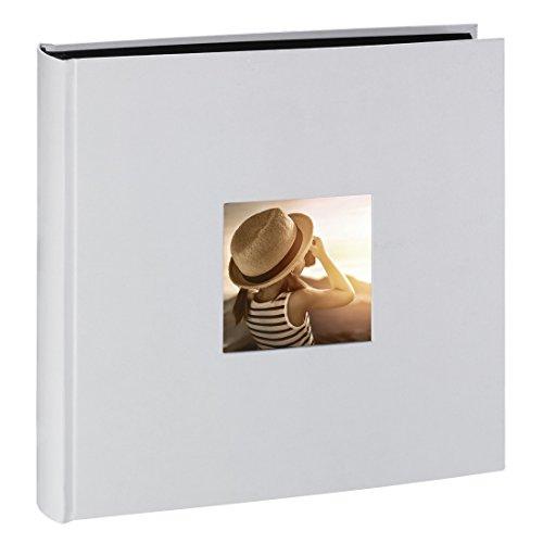 Hama Fine Art Jumbo - Álbum de fotos (30 x 30cm, 100 páginas, 50 hojas, con compartimento para insertar foto), tiza
