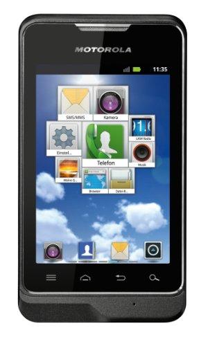 Motorola Motosmart Argon Mini Smartphone (8,9 cm (3,5 Zoll) Touchscreen, 3 Megapixel Kamera, HSDPA, GPS, Android 2.3) schwarz