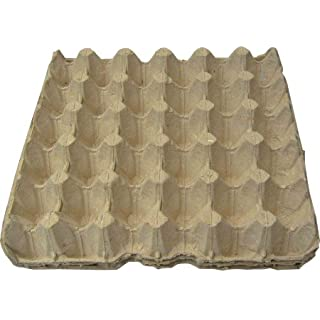 100 x EGG TRAYS CARTON PACKAGING (HOLDS 30 EGGS) NEW IN GREY