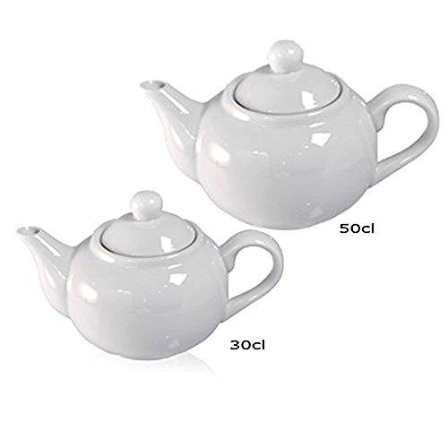 Théière/cafetière en porcelaine blanche, série Roma Saturnia 50cl