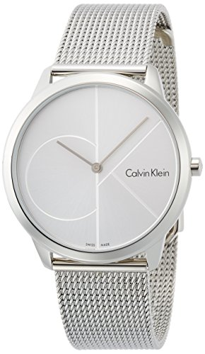Calvin Klein Herren Analog Quarz Uhr mit Edelstahl Armband K3M2112Z