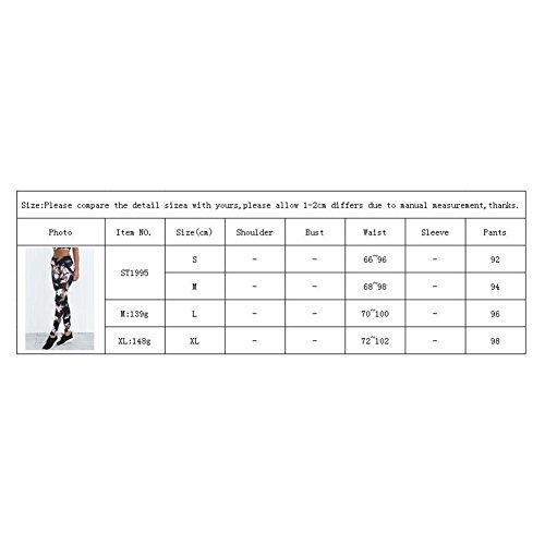 Damens Ensembles De Vêtements Costume De Gym Des Sports Chemise Soutien-Gorge Yoga Leggings Pantalon Tenue De Sport Aptitude Costume Pour Courir Yoga Gym Courir Joggings Yuxin Leggings (pas de soutien-gorge)