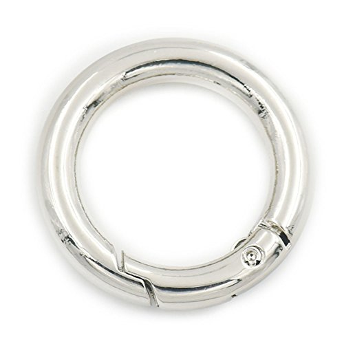 5PCS 25mm Trigger Spring Gate 2,5cm Schnalle Snap Clip Schlüsselanhänger offener O Ring Gurtband Träger Tasche, metall, Nickle, 25 mm -