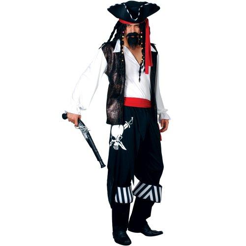Freibeuter Pirat Verkleidung für Männer Halloween Karneval Fasching -