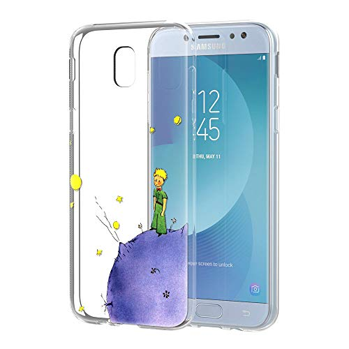 YOEDGE Cover Samsung Galaxy J5 2017 Antiurto Custodia Trasparente con Disegni [The Little Prince] Ultra Slim Protective Case Bumper in TPU Silicone per Samsung Galaxy J5 2017 Smartphone(Porpora)