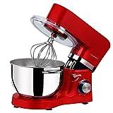 Cookmii Knetmaschine,Küchenmaschine Multifunktional,Planetenrührwerk, angenehmes Betriebsgeräusch,Kochroboter,6 Geschwindigkeit 5,5 L