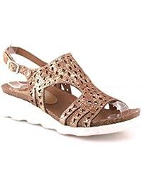 Felmini - Zapatos para Mujer - Enamorarse com Dorini A139 - Sandalias de cuña - Cuero Genuino - Varios colores