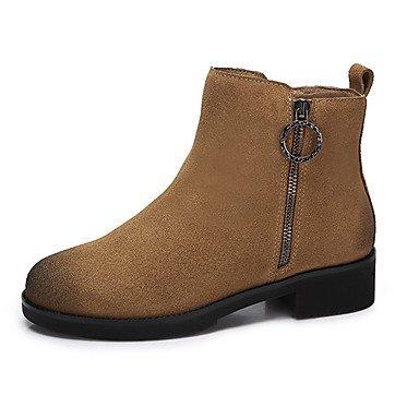 RTRY Scarpe Da Donna In Pelle Nubuck Autunno Inverno La Moda Stivali Stivali Per Casual Giallo Nero US5.5 / EU36 / UK3.5 / CN35