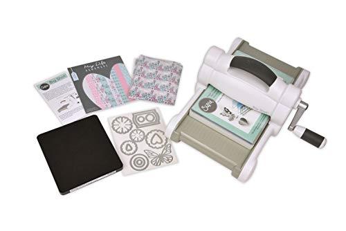 Sizzix 2118736004 Manuelle Stanz-und Prägemaschine 661545, mit 15,24 cm Öffnung, My Life Handmade Big Shot Set Maschine inklusive verschiedenem Zubehör, Plastik, Starter Kit, 36,2 x 31,4 x 16,8 cm -