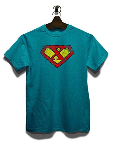 X Buchstabe Logo Vintage T-Shirt Türkis