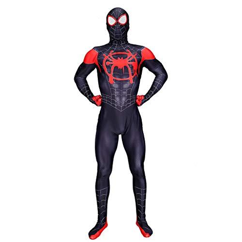 Ghuajie5hao Venom Spiderman Cosplay Kostüme Overall Kostüm Für Kinder Kleinkinder Zubehör Halloween Thema für Trikot Superheld 3D Gedruckt Budysuit Film TV Requisiten Kostüme,Schwarz,M