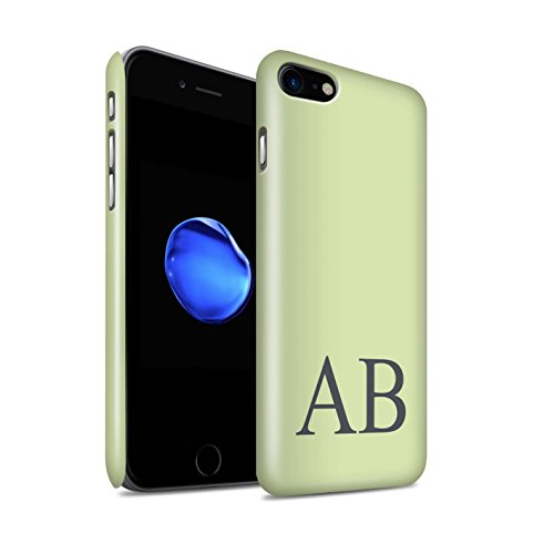 Personalisiert Pastell Monogramm Glanz Hülle für Apple iPhone 8 / Türkis Design / Initiale/Name/Text Snap-On Schutzhülle/Case/Etui Grünes