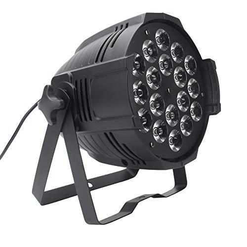 U`King-Stadiums-Licht 18 * 15W 4 in 1 LED-Auto-Sprachgebrauch-Kanälen 8 DMX 512 Steuerung RGBW unbegrenzte Farbmischung und Regenbogen-Effekt für DJ-Party-Feriengeschenk KTV