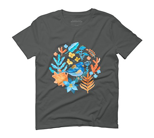 Winter Nature Men's Graphic T-Shirt - Design By Humans Anthracite