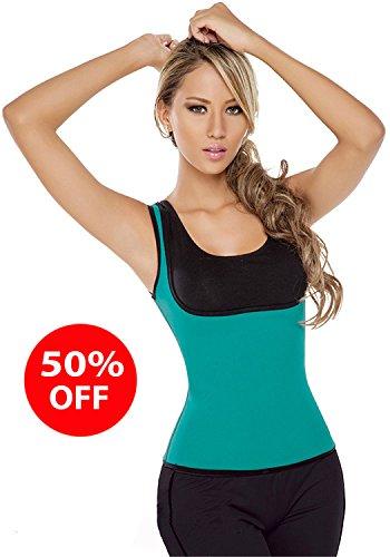 Damen Korsett Abnehmen Gewichtsverlust Sweatshirt Training Taillenkorsett Bauch-Weste Blau blau xxxl