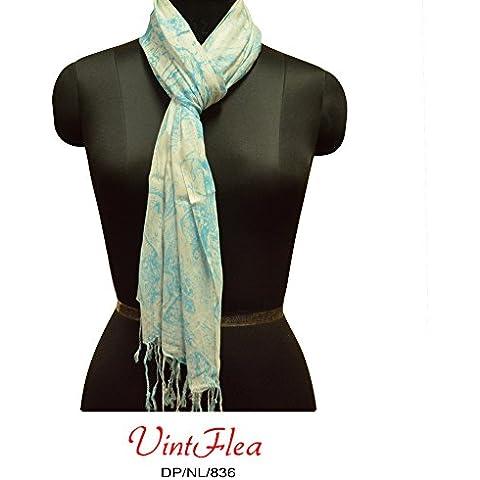 blu lunga stola 100% cotone artigianali delle donne del vestito
