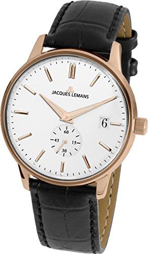 Jacques Lemans Reloj Analógico para Unisex Adultos de Cuarzo con Correa en Cuero N-215B