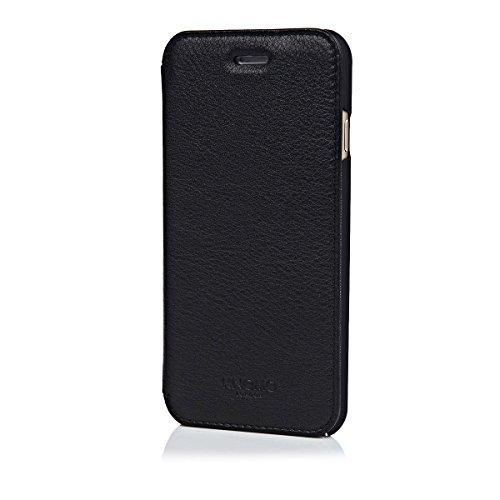 Knomo Leder-Schutzhülle für iPhone 6/6s – rosa schwarz