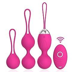 Idea Regalo - Acvioo Palline Vagine Kegel Silicone Balls Rinforzamento dei Muscoli Vaginali Esercizi del Pavimento Pelvico Kit Bladder Control e Incontinenza Dispositivo per la Femmina Rose