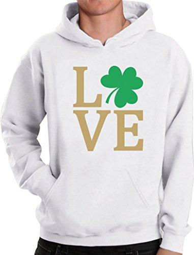 Green Turtle T-Shirts Irisches Liebes Kleeblatt - St. Patrick Kapuzenpullover Hoodie X-Large Weiß -