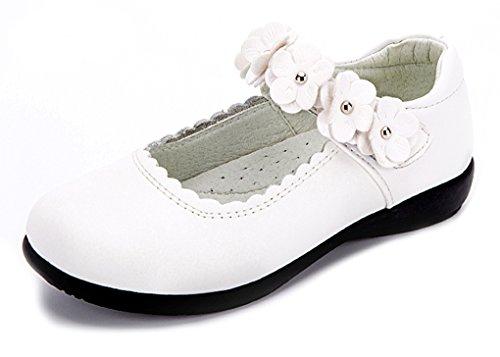 assisch Niedliche Low-Top Weiche Sohle Blumen Mary Jane Tanzschuh Weiß 29 EU (Tanzabend Ballett Kostüme)