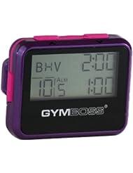 Gymboss Minuteur d'intervalle et chronomètre – COQUE BRILLANT VIOLET / ROSE