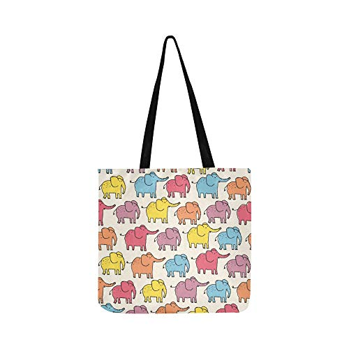 Color lindo elefantes lienzo bolso bolso bandolera bolsos crossbody monederos para hombres...