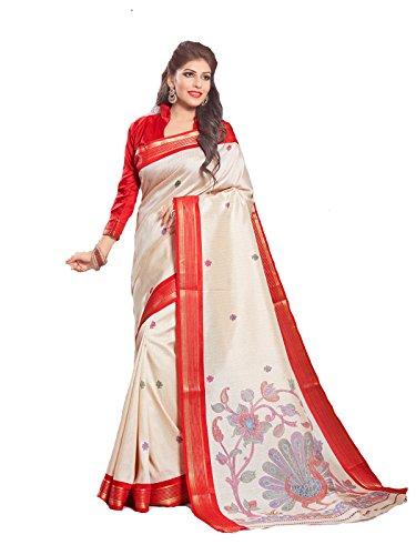 Samskruti Sarees Art Silk Saree (Svas-9031A_White)