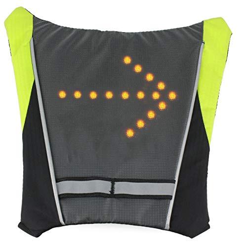 LED indicatori di direzione luce riflettente gilet zaino/business/Travel/laptop/zaino scuola sport outdoor impermeabile per bicicletta di notte di sicurezza, Widget of Backpack - Green