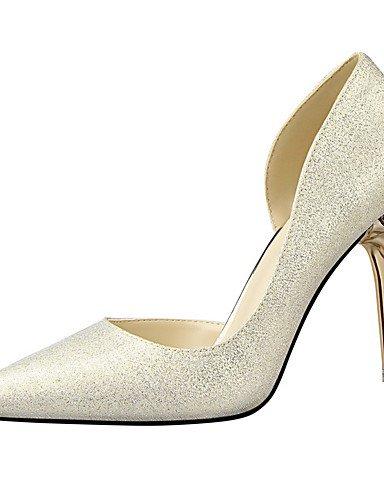 GS~LY Damen-High Heels-Kleid-Wildleder-Stöckelabsatz-Absätze / Geschlossene Zehe / Spitzschuh-Schwarz / Rosa / Rot / Weiß / Silber / Gold red-us6.5-7 / eu37 / uk4.5-5 / cn37