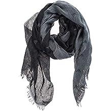 7e76588f0fc9 Emporio Armani écharpe homme en coton noir