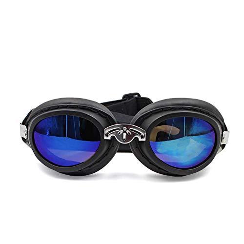 LRKZ Haustierhundebrille, wasserdichte Faltbare Und Verstellbare Haustier-Sonnenbrille, Stilvolle Niedliche Haustierhundeschutzbrille,Black