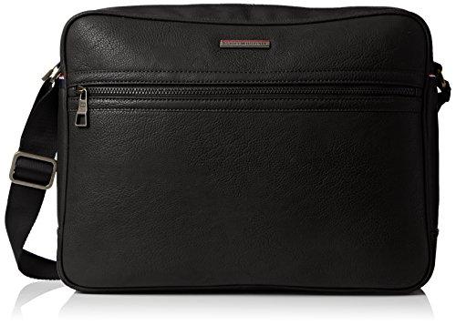 Tommy Hilfiger Essential Messenger, Borse Uomo, Nero (Black), 10x30x40 cm (L x H x D)