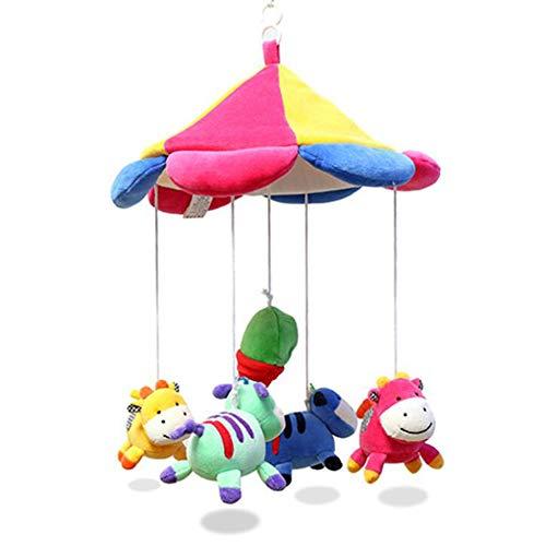 Excellent Sales Musik Mobile Einschlafhilfe mit Halterung Fürs Kinderbett Babybett Spieluhr Für Baby Neugeborene Jungen Mädchen Kann Lieder mit USB Übertragen,Singlebedbelltoy(Notmusic)