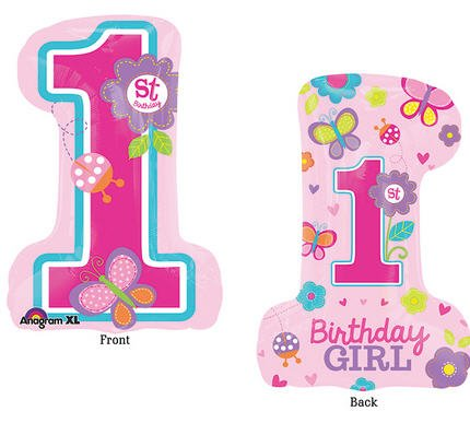 amscan Super/Form Sweet Birthday Girl Ballon