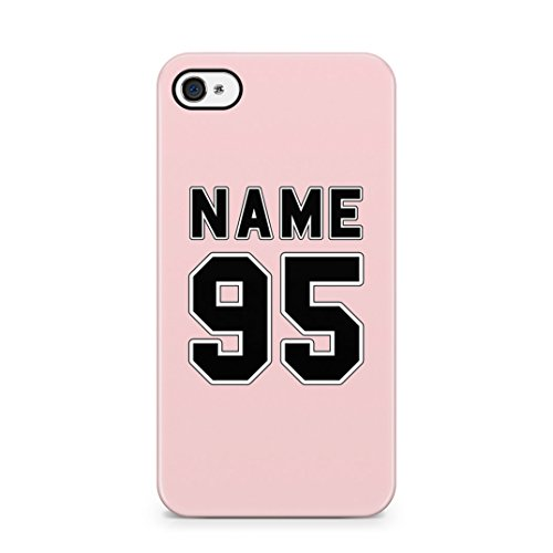 Personalised Customizable First And Last Name Initial Custom Black Marble Custodia Protettiva In Plastica Rigida Cover Per iPhone 7 / iPhone 8 Case Pink Name