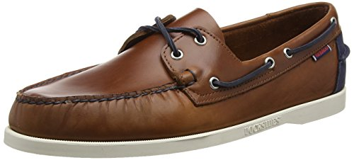 Sebago Spinnaker, Mocassins femmes Brown (Cognac Lea/Navy)