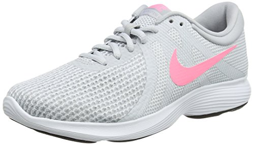 Nike Revolution 4, Zapatillas de Running para Mujer, Gris (Pure Platinum/Sunset Pulse-Wolf Grey 016), 41 EU